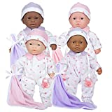 JC Toys 11' Lots to Love Babies with Different Skin Tones - Set of 4