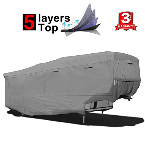 BougeRV Travel Trailer RV Cover Waterproof Anti-UV Camper Cover Fits 27/'-30/'/'