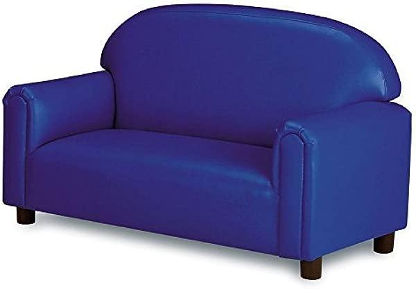 Brand New World Furniture FPVB100 Brand New World Preschool Premium Vinyl Upholstery Sofa Blue