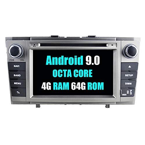 RoverOne Sistema Android Autoradio para Toyota Avensis T27 2009-2013 con Multimedia DVD Estéreo GPS Navegación Radio Bluetooth USB Mirror Link