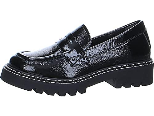 Tamaris Damen 1-1-24700-27 Slippers, Black PATENT, 40 EU