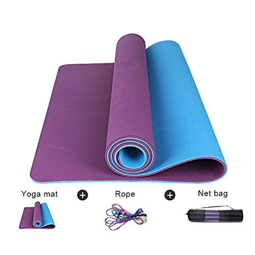 Yogamatte WGXYQ Gymnastikmatte rutschfest Hohe Belastbarkeit Dicke 10mm Gesund Und Geschmacklos TPE Fitnessmatte 185x80cm (Color : #3)