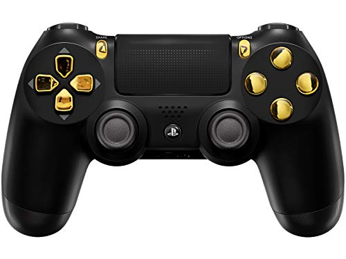 PS4 PRO Rapid Fire Custom MODDED Controller Exclusive Unique Designs - CUH-ZCT2U (Multiple Designs Available) (Black/Gold)