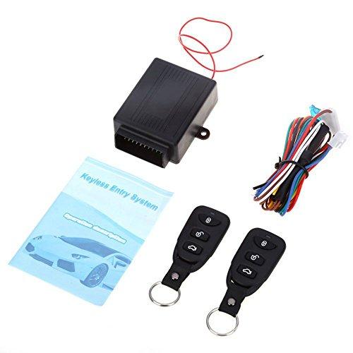 SODIAL Telecommande auto universelle Kit central Verrou Verrouillage du vehicule sans cle Nouveau Systeme d'entree Avec les telecommandes Systeme d'alarme de voiture chaud
