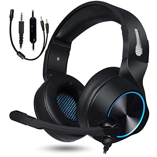 Xflelectronic Gaming Headset,Stereo Surround Noise Cancelling Over Ear Gaming Headphones with Mic Volume Control,for PS4/Xbox One/PC/Laptop/Mac/IPad