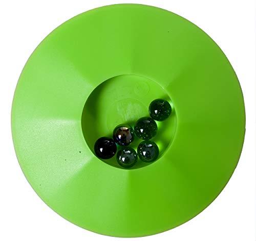 Engelhart – 502001 - Juego 6 canicas con Plato – Forma Redonda -17 cm (Verde)