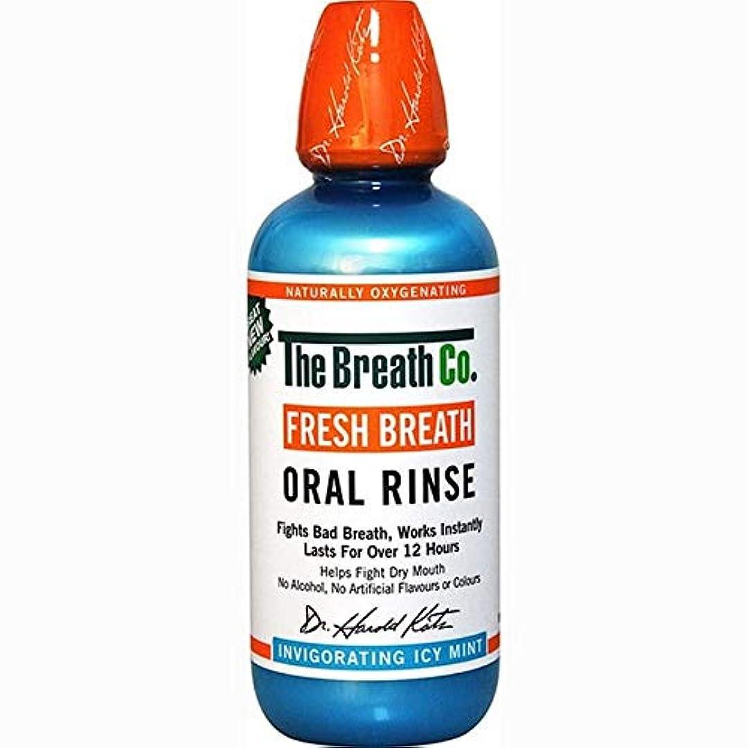 女優シマウマ正気[The Breath Co] 息のCo新鮮な息口腔リンス氷のミント500ミリリットル - The Breath Co Fresh Breath Oral Rinse Icy Mint 500ml [並行輸入品]