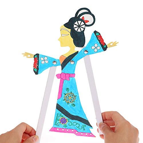 ZQQ Schattenspiel chinesisches traditionelles Kunsthandwerk Kindergarten Schattenspiel handgemacht kreativ,B