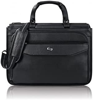 Solo Harrison 16 Inch Triple Compartment Laptop Briefcase, Black