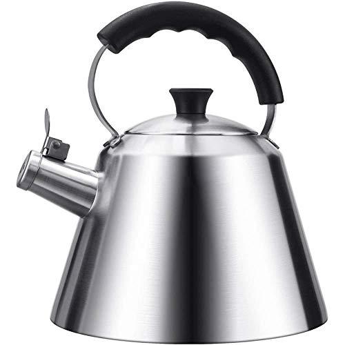 Théière XINYALAMP Stove Top Bouilloire for Le gaz, Bouilloire en cuivre thé Whistling Stove Top avec poignée en Acier Inoxydable résistant à la Chaleur, gaz électrique à Induction Compatible