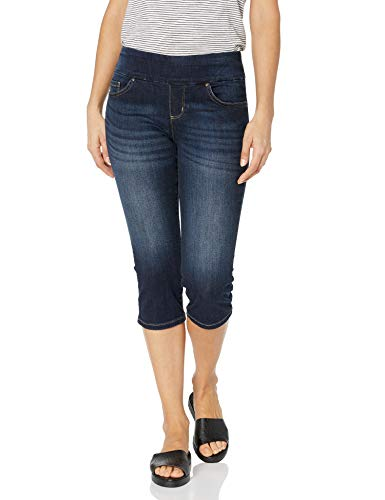 LEE Women's Sculpting Pull on Capri Jean, Nightgames, 8 Petite