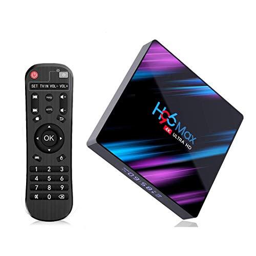 H96 MAX Android 10.0 TV Box with 4GB RAM 32GB ROM RK3318 Quad Core 64 bit CPU, Smart TV Box Support 2.4/5.0G Wi-Fi,USB 3.0,3D 4K Ultra HD,HDMI 2.0,BT 4.0