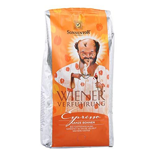 Sonnentor - Espresso ganze Bohne Wiener Verführung bio - 1 kg - 5er Pack