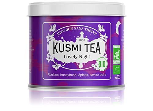 Kusmi Tea – biologische kruidenthee Lovely Night – melange van planten en specerijen met de smaak van peer…