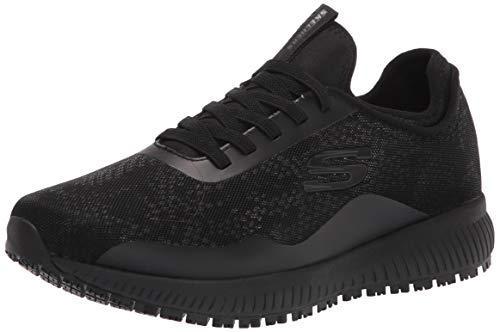Skechers Women's Slip on Athletic Food Service Shoe, Black, 5