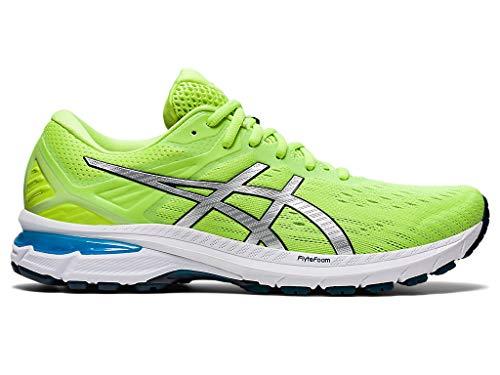 ASICS Men's GT-2000 9 Running Shoes, 10.5M, Hazard Green/Pure Silver