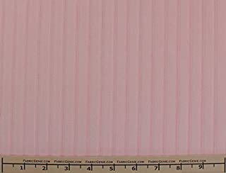 Pink Stripe English Stretch Cotton Poplin Shirting Fabric