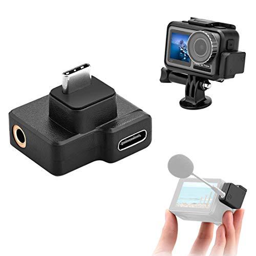Adaptador de audio para micrófono de 3,5 mm y USB-C para DJI Osmo Action Item Title