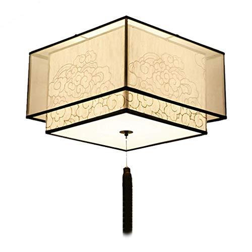 YANQING Duurzame Plafondlampen Creatieve Plafondlamp, Klassieke Plafondlamp voor Slaapkamer Studeerkamer Woonkamer, Doek Lampenkap Gepersonaliseerde Plafondverlichting Kroonluchter Plafondlampen