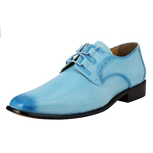 LIBERTYZENO Oxford Dress Shoes for Men Formal Manmade Leather Classic Tread Design Lace Up Casual Shoes