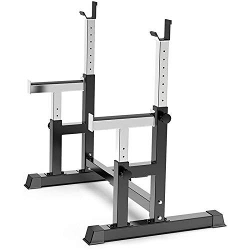 Breite und Höhe Verstellbar Kniebeugenständer Squat Rack Multifunktions Langhantelstander Langhantelablage Kniebeugenstander für Beinstärke und Gesäß,300 Kg Belastbarkeit
