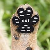 Cizen Protezioni Zampa Pads, 20pz Animale da Compagnia Antiscivolo Protezioni Impedire Animale da Compagnia di Scivolare, Autoadesivo Scarpe per Cani Sostituzione - XXL