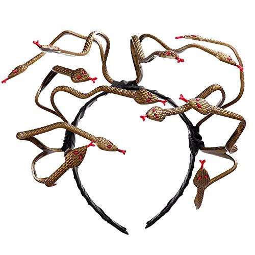 Diadema de Halloween de Serpiente Medusa Accesorios de Disfraces de Cosplay de Medusa Tocado de Disfraces de Carnaval Tocado de Fiesta de Disfraces de Terror