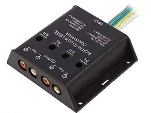 Adattatore Convertitore di Segnale Amplificatore Uscita Autoradio RCA 4 CANALI 40W