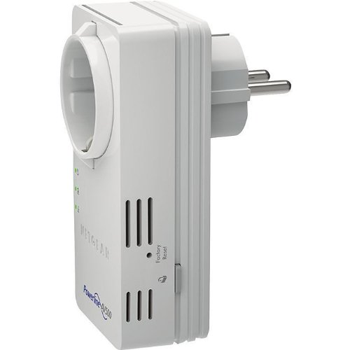 Netgear XAVB5602-100PES Powerline 500 Nano presa passante 2 porte