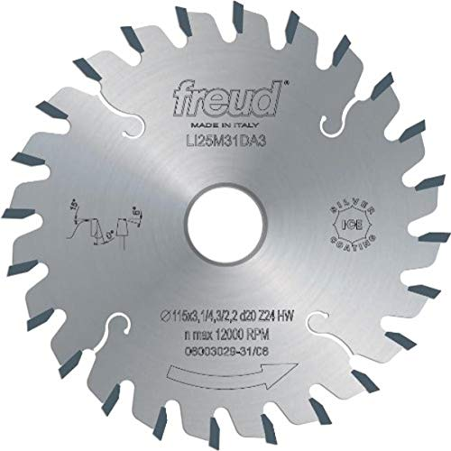 Freud LI25M43PL3 200mm 36 Tooth Carbide Tipped Conical Scoring Blade for Scoring The Coating on Double-Sided Laminate Panels