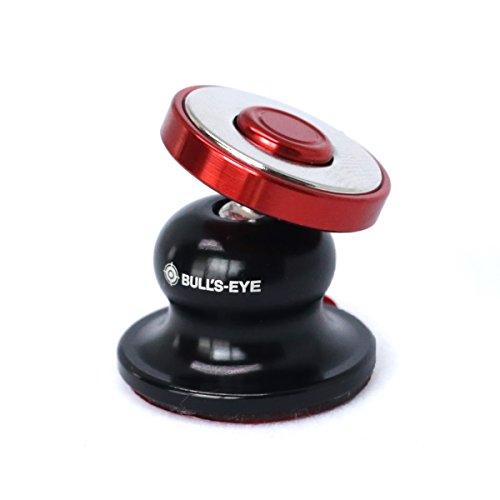 Bull's Eye Magnetic Cradle-Less Hinge Technology World's Smallest Ball Head Type car Mobile Holder ( Product of South Korea ) (Wine)