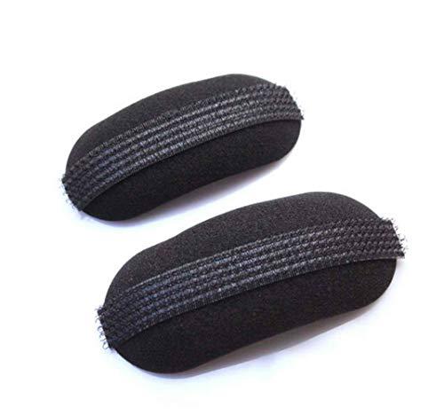3 Paar schwarze ovale Kissen geformt dicker Schwamm Fransen Haar Einlage Clips Bump Up Hair Insert Pads Hair Base Volume Einlagen Kissen Clips Krabben für flauschige Haarpolsterung