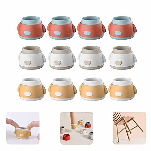 Hongshengchang Silicone Chair Leg Floor Protectors Caps, Round Table Leg Covers Against Scratching, Furniture Silicone Protection Cover, Furniture Feet Cups for Wooden Floors