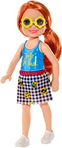 Barbie Club Chelsea Doll, 6-inch Redhead with Flower-Shaped Sunglasses, Multi