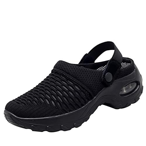 Damen Walkingschuhe Leichte Luftkissen Mesh Turnschuhe Slip On Sneakers Freizeit Atmungsaktive Leichte Gartenschuhe Outdoor Mesh Hausschuhe Sandalen