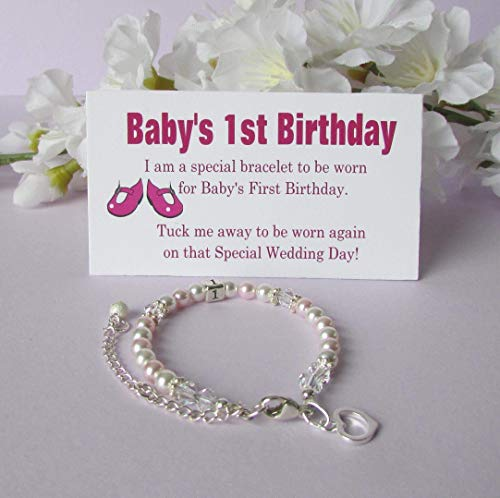 Baby's 1st Birthday Gift Bracelet Baby to Bride