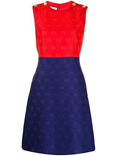 Gucci Luxury Fashion Donna 609425ZADC74486 Blu Vestito | Primavera Estate 20