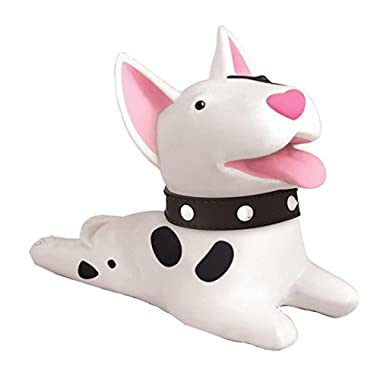 Cute Cat Dog Door Stopper Wedge Non-slip Non-scratching Baby Child Safety doorstop works on all floor surfaces (White Dog)