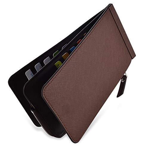 YOUNGE Double Zipper Multifunction Card Holder ID Card Credit Card Holder Wallet Unisex