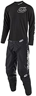Troy Lee Designs TLD 2018 GP Mono Gear Set All Black Jersey and Pant Combo (XLarge Jersey / 36 Pants)