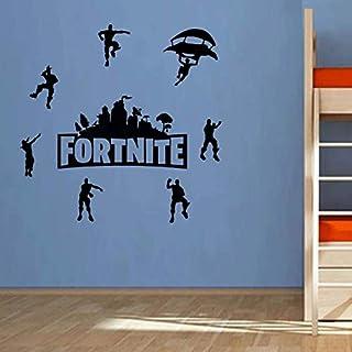 DIY Black FORTNITE Wall Stickers self-adhesive bedroom living room decor wallpaper Game Fortnite wall decal