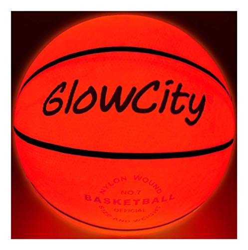 GlowCity Light Up Basketball-Uses Two High Bright LED's (Official Size...