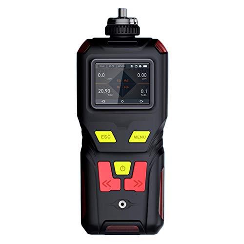 AKAKKSKY 4-in-1 Gasmelder O2 CO H2S LEL Messgerät überwachen Sound Light Vibrationsalarme Farbbildschirm DREI Anzeigemodi Eingebaute Pumpe USB Aufladen DREI Verteidigung
