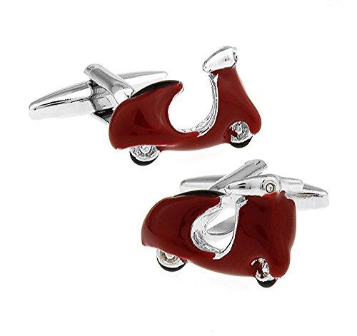 Ashton and Finch rode scooter manchetknopen. Nieuw. transport. Moped. Roller. thema sieraden.