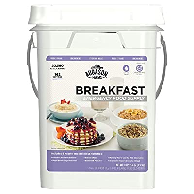 Augason Farms Breakfast Emergency Food Supply 11 lbs 1.8 oz 4 Gallon Pail from Augason Farms