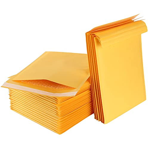 6 x 9 Inch Kraft Bubble Mailers, 50 Pack #0 Padded Mailing Envelopes Kraft Bubble Mailers Self Seal Padded Envelopes