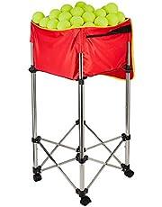 HIRAM Tennisbollkorg Tennisballbil Tennis ballhoppers ballongsamlarkorg 80–98 cm tennis Teaching Cart Tennisball-Hopper Tennis-tillbehör, plats för upp till 150 bollar