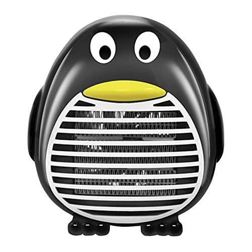 QCLU 500W Mini Calentador portátil Calentador de Ventilador eléctrico Estufa de Escritorio Calentador de la calefacción Máquina jardín de su casa Calefactor eléctrico (Color : Black)