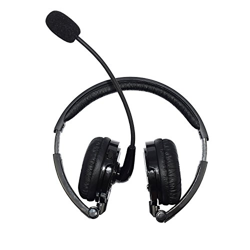 Ambertech auricular inalámbrico Bluetooth estéreo auricular plegable auricular auricular binaural con micrófono de auge