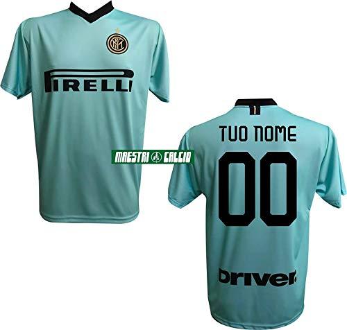 F.C. Inter Maglia Replica Calcio Away Verde Ufficiale Autorizzata Personalizzata Personalizzabile 2020 Eriksen Godin SKRINIAR BARELLA LUKAKU LAUTARO Adulto e Bambino